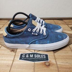 Vans China Ferguson Sydney Blue Floral Skate Shoes